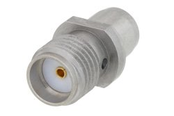 Slide-On BMA Plug to SMA Female Adapter