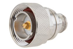 PE9179A - N Female to 7/16 DIN Male Adapter, With Knurl