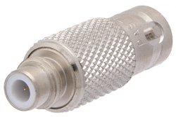 PE9235 - 75 Ohm SMC Jack to 50 Ohm BNC Female Adapter
