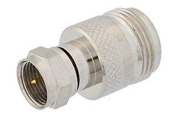 PE9389 - 50 Ohm N Female to 75 Ohm F Male Adapter