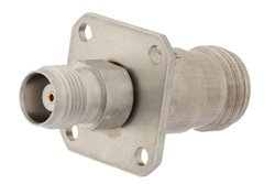 PE9450 - Precision 4 Hole Flange Mount N Female to TNC Female Adapter