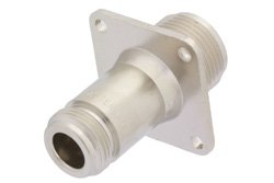 4 Hole Flange Mount N Female to HN Female Adapter