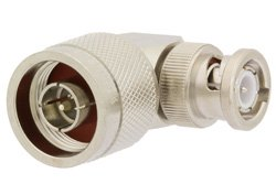PE9565 - N Male to BNC Male Right Angle Adapter