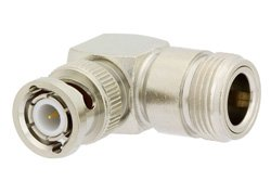 PE9566 - N Female to BNC Male Right Angle Adapter