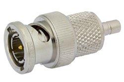 PE9618 - 75 Ohm Mini SMB Jack to BNC Male Adapter