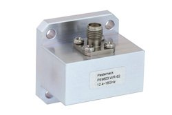 WR-62 Square Type Flange to SMA Female Waveguide to Coax Adapter Operating from 12.4 GHz to 18 GHz
