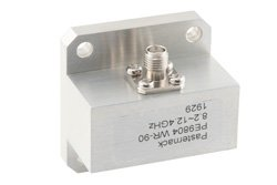 WR-90 Square Type Flange to SMA Female Waveguide to Coax Adapter Operating from 8.2 GHz to 12.4 GHz