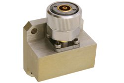 WR-90 Square Cover Flange to 7mm Sexless Waveguide to Coax Adapter Operating From 8.2 GHz to 12.4 GHz
