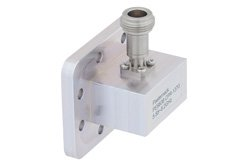 WR-137 CPR-137G Grooved Flange to N Female Waveguide to Coax Adapter Operating From 5.85 GHz to 8.2 GHz, C Band