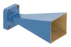 WR-42 Waveguide Standard Gain Horn Antenna Operating From 18 GHz to 26.5 GHz With a Nominal 15 dBi Gain With UG-597/U Square Cover Flange