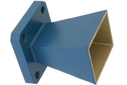 PE9855-10 - WR-75 Waveguide Standard Gain Horn Antenna Operating from 10 GHz to 15 GHz with a Nominal 10 dBi Gain with Square Cover Flange