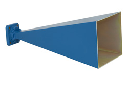 WR-75 Waveguide Standard Gain Horn Antenna Operating From 10 GHz to 15 GHz With a Nominal 20 dBi Gain With Square Cover Flange
