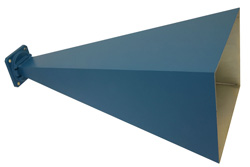 PE9856-20 - WR-90 Waveguide Standard Gain Horn Antenna Operating from 8.2 GHz to 12.4 GHz with a Nominal 20 dBi Gain with UG-135/U Square Cover Flange