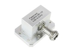 WR-137 CMR-137 Flange to N Female Waveguide to Coax Adapter Operating From 5.85 GHz to 8.2 GHz, C Band