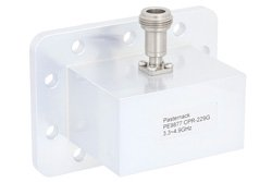 WR-229 CPR-229G Grooved Flange to N Female Waveguide to Coax Adapter Operating From 3.3 GHz to 4.9 GHz, S-C Band