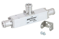 Low PIM 5 dB 4.1/9.5 Mini DIN Unequal Tapper From 350 MHz to 5.85 GHz Rated to 300 Watts