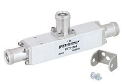 Low PIM 7 dB 4.1/9.5 Mini DIN Unequal Tapper From 350 MHz to 5.85 GHz Rated to 300 Watts