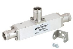 Low PIM 20 dB 4.3-10 Unequal Tapper From 350 MHz to 5.85 GHz Rated to 300 Watts
