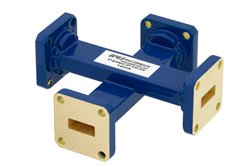 WR-42 20 dB Waveguide Crossguide Coupler, UG-595/U Square Cover Flange, 18 GHz to 26.5 GHz