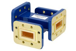 WR-90 40 dB Waveguide Crossguide Coupler, CPR-90G Grooved Flange, 8.2 GHz to 12.4 GHz
