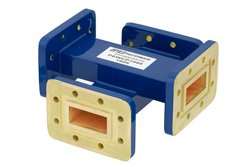 WR-112 Waveguide 30 dB Crossguide Coupler, CPR-112G Flange, 7.05 GHz to 10 GHz, Bronze