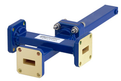 WR-42 Waveguide 20 dB Crossguide Coupler, 3 Port UG-595/U Square Cover Flange, 18 GHz to 26.5 GHz, Bronze