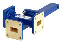 WR-62 Waveguide 50 dB Crossguide Coupler, 3 Port UG-419/U Square Cover Flange, 12.4 GHz to 18 GHz, Bronze