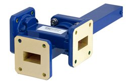 WR-75 Waveguide 20 dB Crossguide Coupler, 3 Port Square Cover Flange, 10 GHz to 15 GHz, Bronze