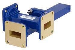 WR-90 Waveguide 40 dB Crossguide Coupler, 3 Port UG-39/U Square Cover Flange, 8.2 GHz to 12.4 GHz, Bronze