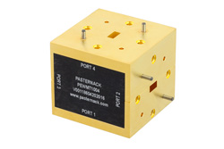 PEWMT1004 - WR-22 Waveguide Magic Tee, UG-383/U Round Cover Flange Operating from 33 GHz to 50 GHz