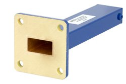 1.5 Watts Low Power Commercial Grade WR-62 Waveguide Load 12.4 GHz to 18 GHz, Bronze