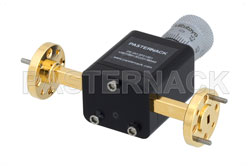 0 to 180 Degree WR-12 Waveguide Phase Shifter, From 60 GHz to 90 GHz, With a UG-387/U Round Cover Flange View 2