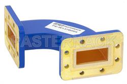 WR-137 Commercial Grade Waveguide H-Bend with CPR-137G Flange Operating from 5.85 GHz to 8.2 GHz View 2