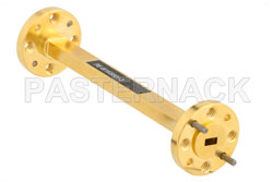 WR-15 Instrumentation Grade Straight Waveguide Section 3 Inch Length with UG-385/U Flange Operating from 50 GHz to 75 GHz View 2
