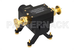 WR-19 Waveguide Direct Read Attenuator, 0 to 50 dB, From 40 GHz to 60 GHz, UG-383/U-Mod Round Cover Flange, Dial View 2