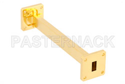 WR-51 Instrumentation Grade Straight Waveguide Section 6 Inch Length with UBR180 Flange Operating from 15 GHz to 22 GHz View 2