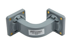 WR-62 Commercial Grade Waveguide E-Bend with UG-419/U Flange Operating from 12.4 GHz to 18 GHz View 2
