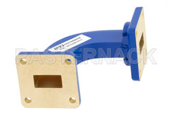 WR-62 Commercial Grade Waveguide H-Bend with UG-419/U Flange Operating from 12.4 GHz to 18 GHz View 2