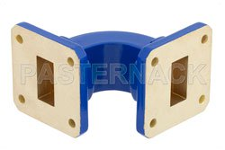 WR-75 Commercial Grade Waveguide E-Bend with UBR120 Flange Operating from 10 GHz to 15 GHz View 2