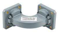 WR-75 Commercial Grade Waveguide H-Bend with UBR120 Flange Operating from 10 GHz to 15 GHz View 2