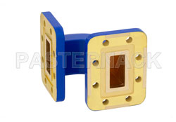 WR-90 Commercial Grade Waveguide E-Bend with CPR-90G Flange Operating from 8.2 GHz to 12.4 GHz View 2