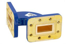 WR-90 Commercial Grade Waveguide H-Bend with CPR-90G Flange Operating from 8.2 GHz to 12.4 GHz View 2