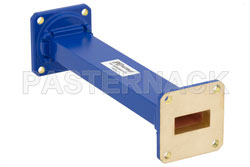 WR-90 Commercial Grade Straight Waveguide Section 6 Inch Length with UG-39/U Flange Operating from 8.2 GHz to 12.4 GHz View 2
