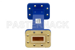 WR-90 Commercial Grade Straight Waveguide Section 6 Inch Length with CPR-90G Flange Operating from 8.2 GHz to 12.4 GHz View 2