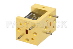 Waveguide Up Converter Mixer WR-15 From 50 GHz to 75 GHz, IF From DC to 18 GHz And LO Power of +13 dBm, UG-385/U Flange, V Band View 2