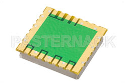 Surface Mount (SMT) 50 MHz Phase Locked Crystal Oscillator, 10 MHz External Ref., Phase Noise -155 dBc/Hz, 0.9 inch Package View 2