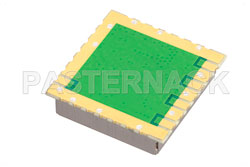 Surface Mount (SMT) 6 GHz Phase Locked Oscillator, 10 MHz External Ref., Phase Noise -90 dBc/Hz, 0.9 inch Package View 2