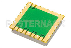 Surface Mount (SMT) 50 MHz Free Running Reference Oscillator, Internal Ref., Phase Noise -150 dBc/Hz, 0.9 inch Package View 2
