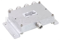 Low PIM 4 Way N Power Divider From 698 MHz to 2.7 GHz Rated at 30 Watts View 2
