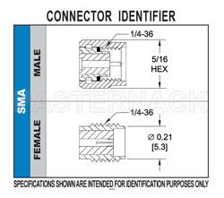 Sma Female Bulkhead Mount Connector Solder Attachment 062 Inch End Launch Pcb 250 Inch Diameter 020 Inch X 010 Inch Contact